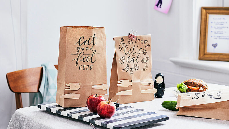 Creative paper lunch bag designs