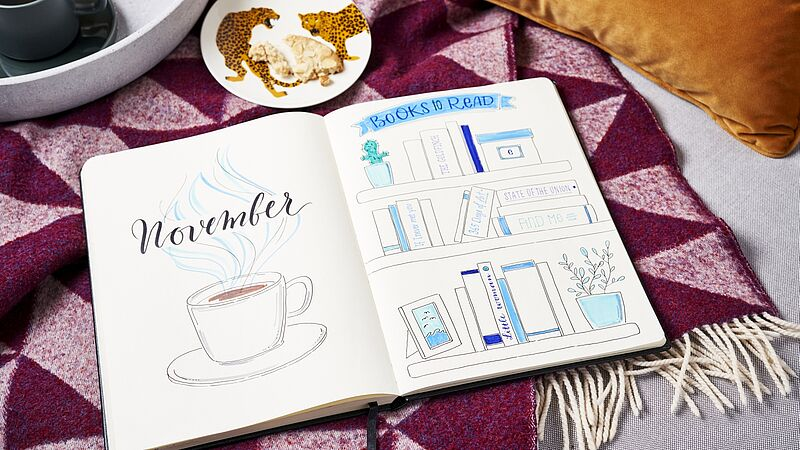 November bullet journal: book list