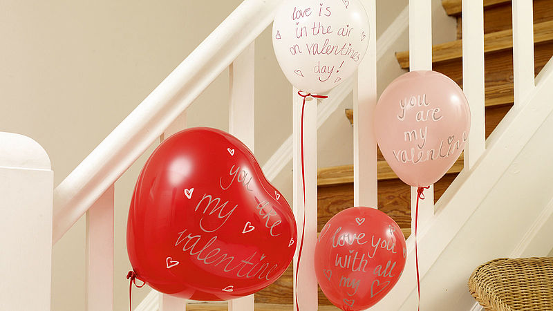 Balloon decorations for Valentine's Day (14th February)