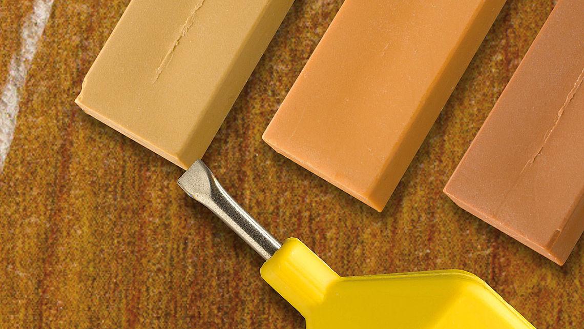 Edding wassmelttoestel voor reparatie houten vloeren