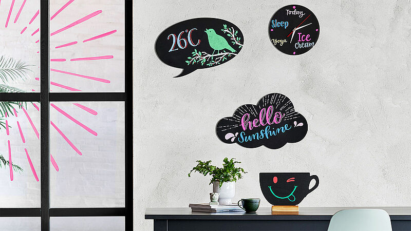 Get creative with chalk markers