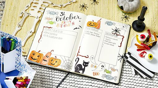 Bullet journal d'octobre : Halloween