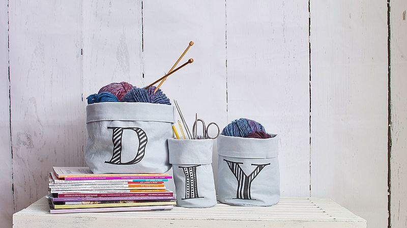Decorative fabric baskets