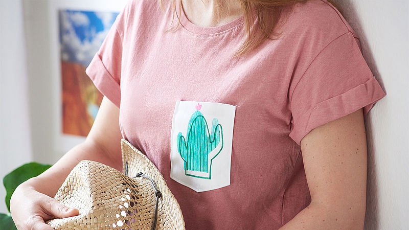 Cactus t-shirt – made with edding textile markers