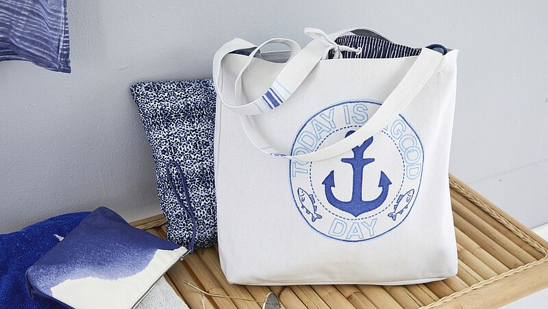 Design a maritime tote bag