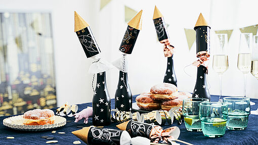 DIY New Year's Eve rocket crackers