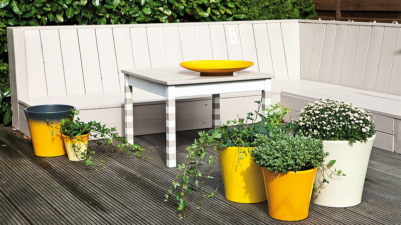 Summertime – a blaze of colour to create an amazing terrace