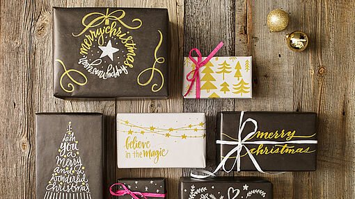 Wrap up gifts in pretty packaging