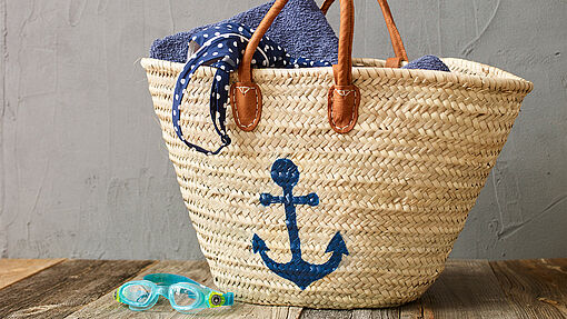 Ibiza basket bag decoration