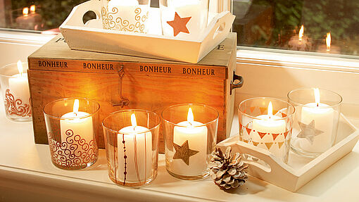 Design your own candle holders