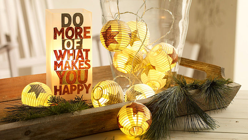Decorate paper lantern lights