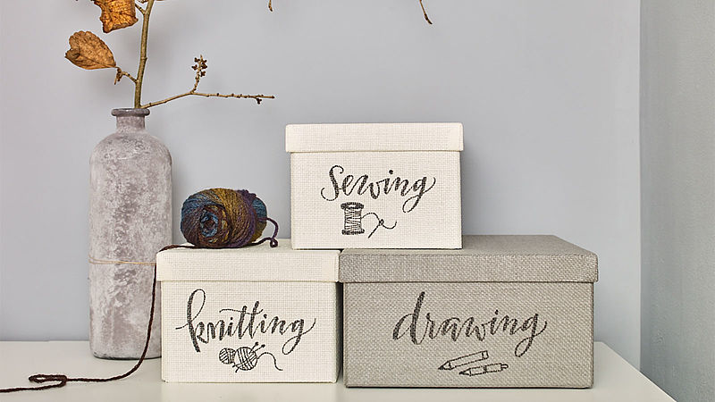 Decorate crafting boxes