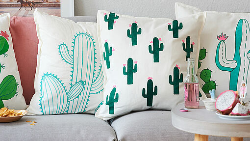 Decorate cushions with your favourite designs