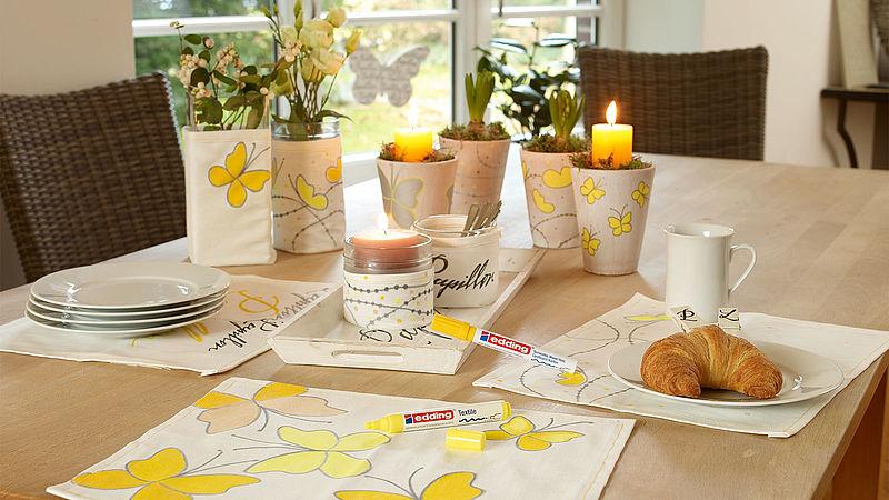 Spring Table Decorations Ideen Edding