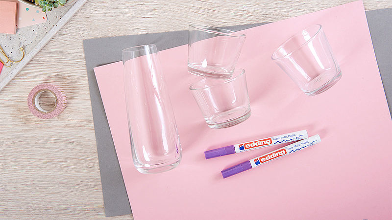 Vasen Aus Glas Bemalen Ideen Edding