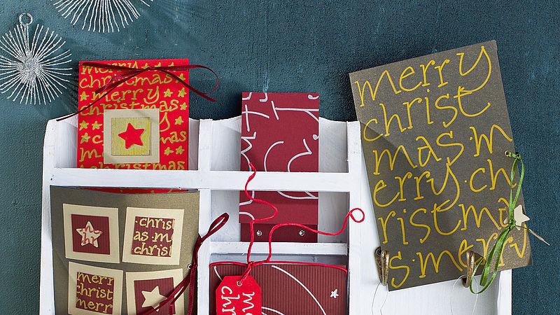 Moderne Weihnachtskarten Basteln.Kreative Bastelideen Rund Um Weihnachten Ideen Edding