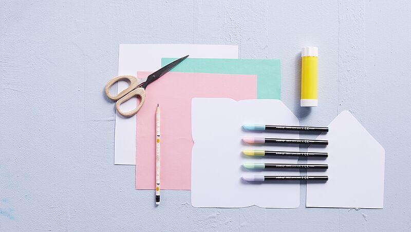 Briefumschlag Basteln Ideen Edding