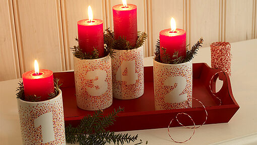 Make your own Advent table decoration