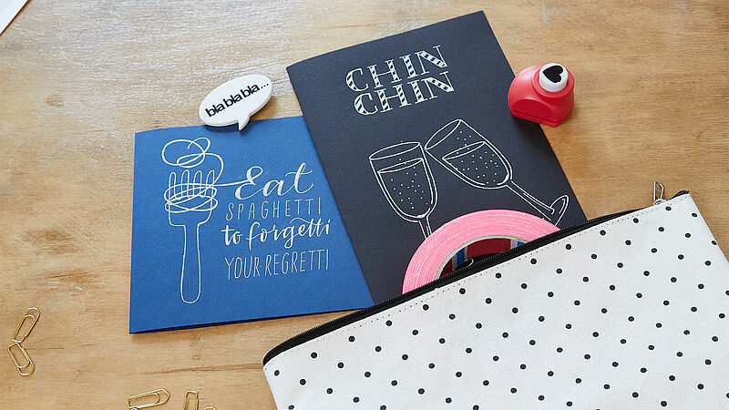 Simple handmade gel pen cards