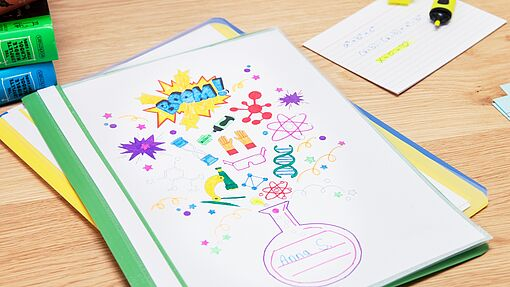 Brighten up folders with fun colours