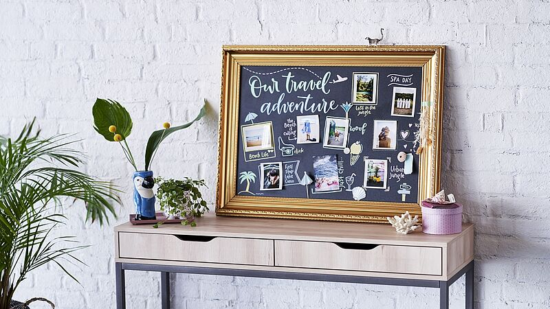 An eye-catching chalkboard collage