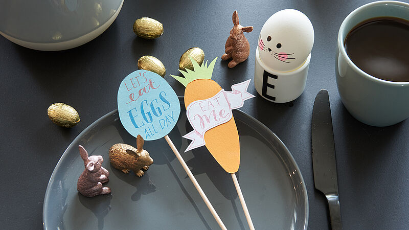 Easy Easter crafts: table decoration