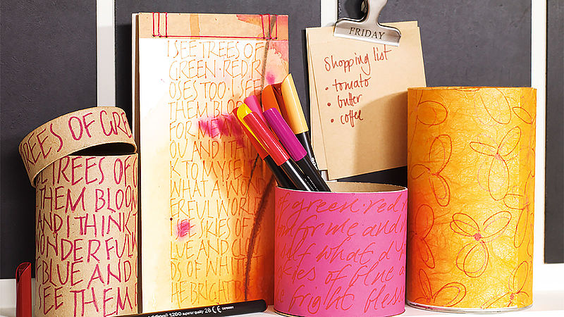 Customise and personalise stationery