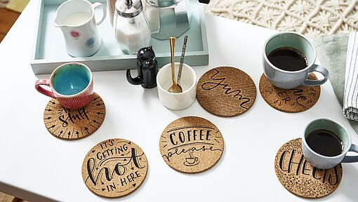 Hand paint cork coasters
