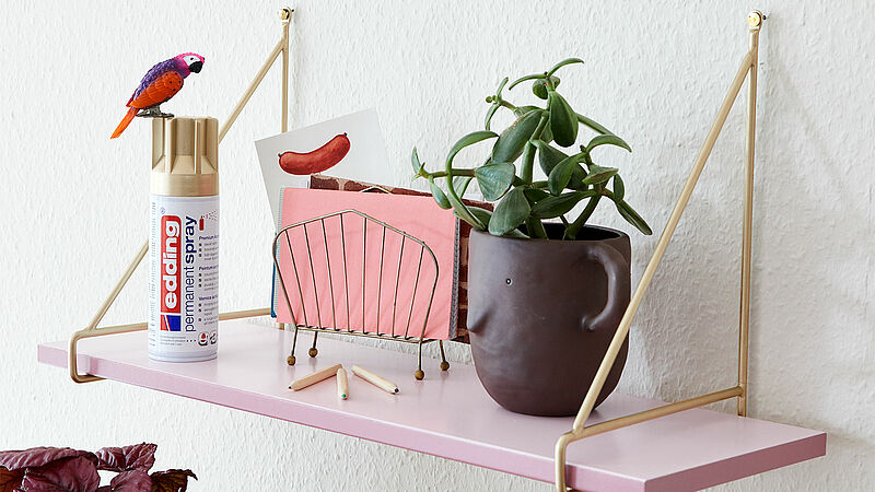 Spray paint your shelf