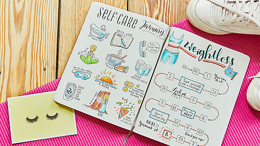 Bullet journaling January: New Year's resolutions
