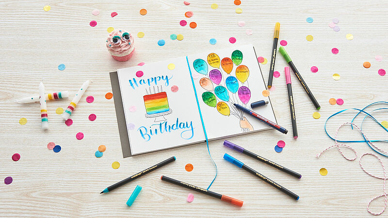 DIY colourful birthday calendar