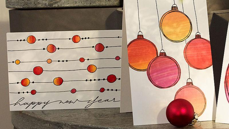 Weihnachtskarten Selber Zeichnen Ideen Edding