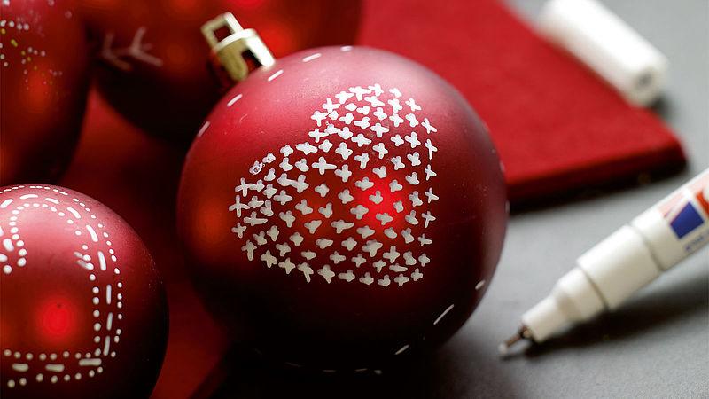 Weihnachtskugeln Bemalen Ideen Edding