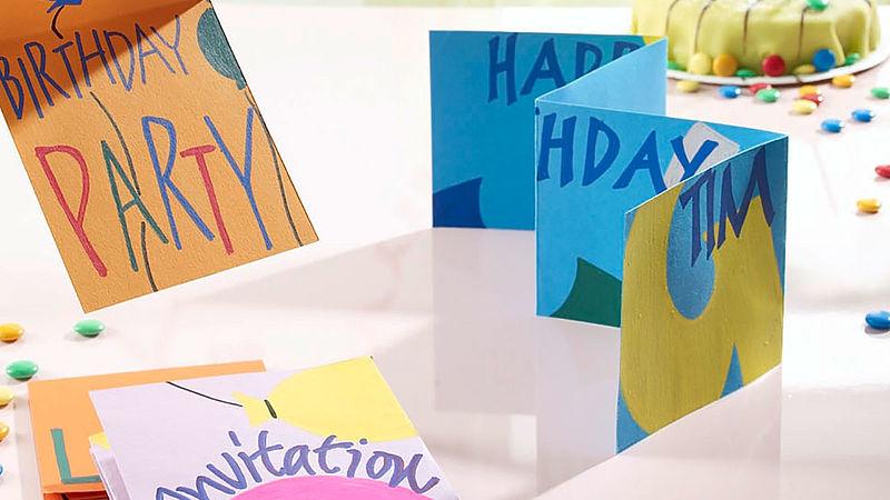 Lieblings Einladungskarten für den Kindergeburtstag basteln - Ideen - edding #OI_68