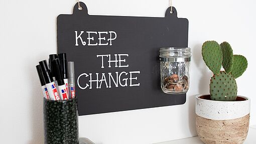 """Keep the change"" jar"