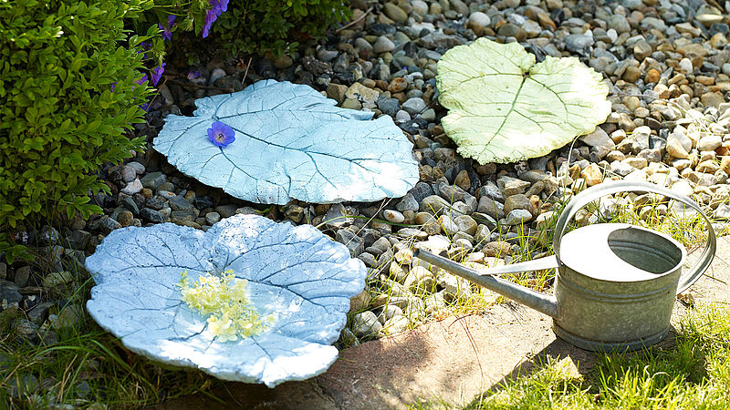 Make your own concrete leaves