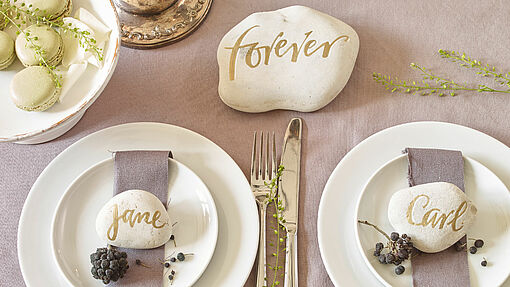 Creative place cards for your wedding