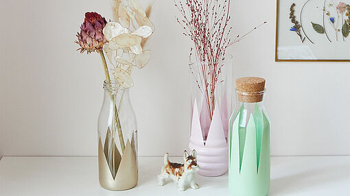 Decorating a flower vase