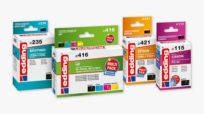 Printer cartridges for inkjet printers