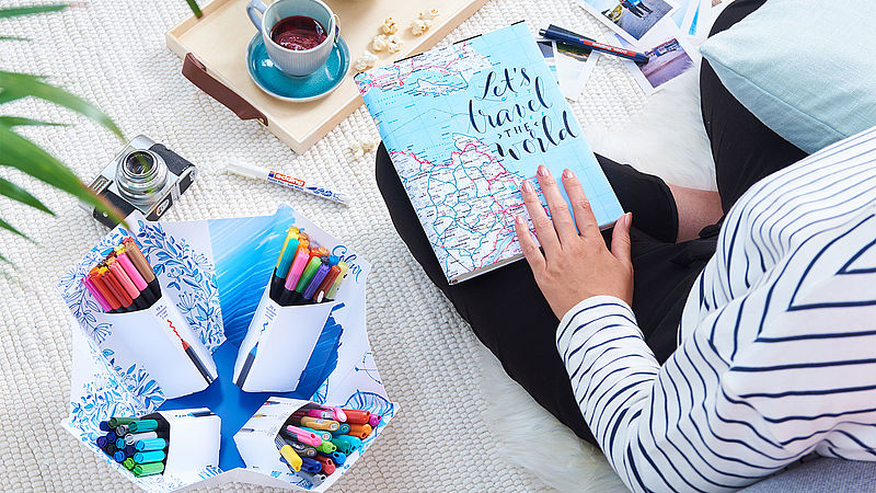 travel journals with the Colour Happy Big Box from edding
