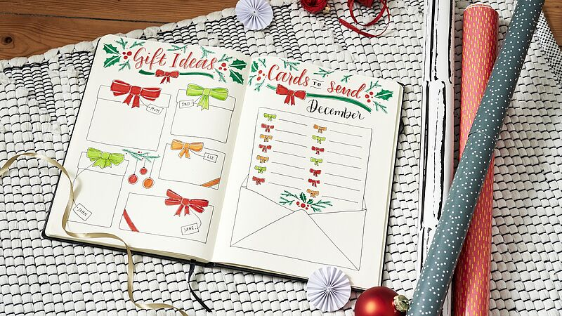 December bullet journal: Christmas planning
