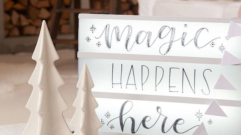 Lightbox für Weihnachten - Ideen - edding