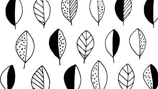 Leaf and green plant templates