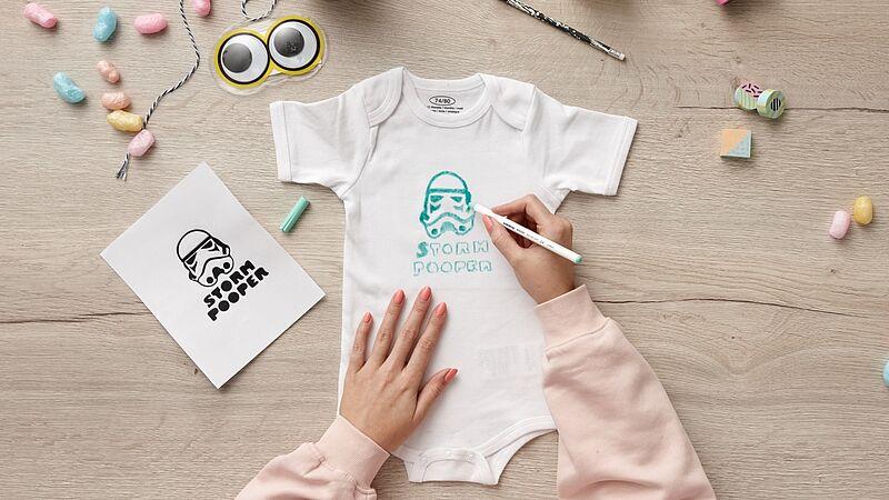 baby body bemalen  ideen  edding