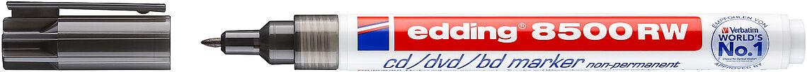 non-permanent edding® CD-Marker 8500 RW Schreibf... Einweg Rundspitze 1 mm