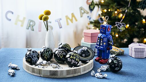 Galactic Christmas baubles