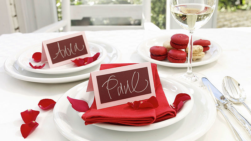 Handwritten wedding place cards