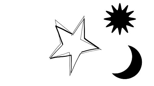 Sun, moon and stars templates