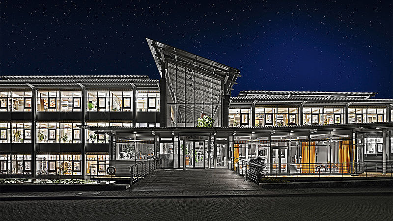 edding HQ in Ahrensburg (Germany) at night