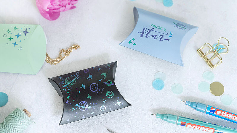 Space-themed gift box